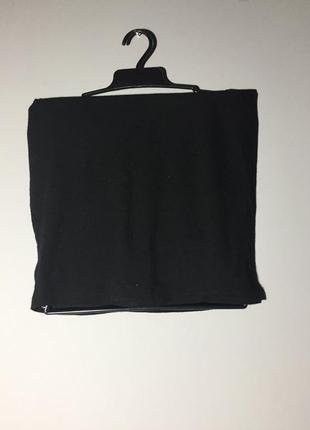 Чёрный топ полоска на грудь из вискозы