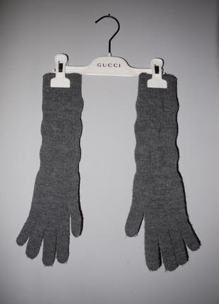 Pinco pallino италия . длинные перчатки из смесовой шерсти серые