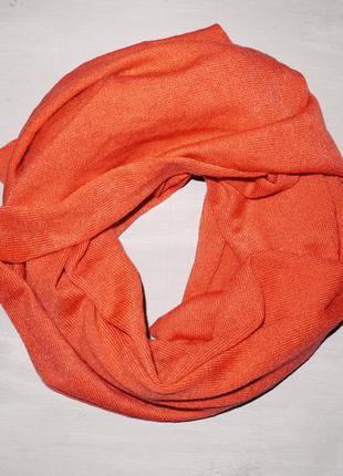 Шарф zara  ярко оранжевый / коралловый / мягкий теплый