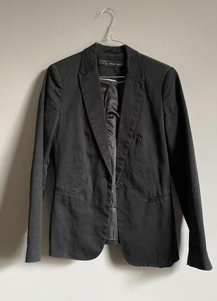 Пиджак zara чёрный ( потертый чёрный темно серый ) slim fit