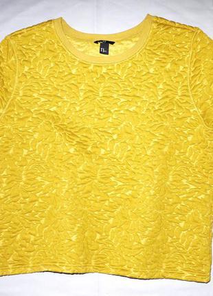 Свитшот ( футболка) h&m из горчичной объемной ткани