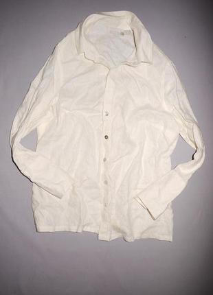 D рубашка из 100% льна большого размера