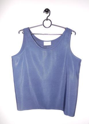 Темно синяя майка ( блуза ) свободного кроя