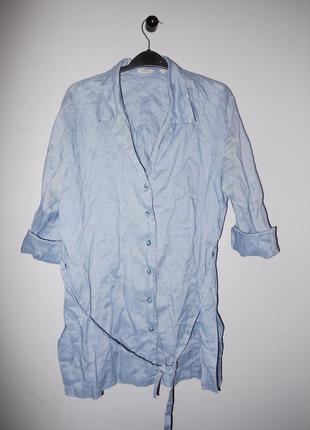 Mango летнее платье - рубашка .  коттон ( под джинсу ) новое  ...