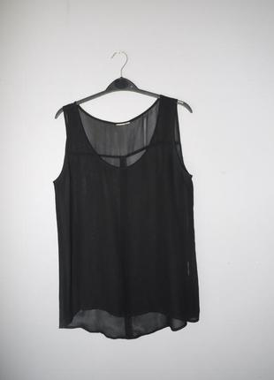 Шифоновая блуза оверсайз чёрная