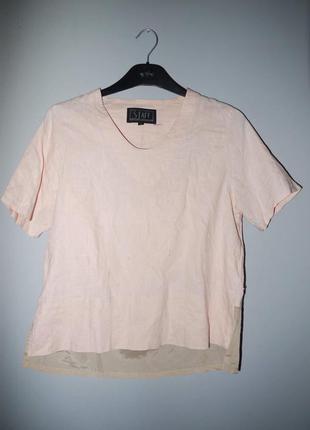 Блуза нежно персикового цвета . лён + коттон . эксклюзивный ви...