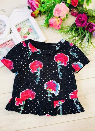Стильная блузка в цветы