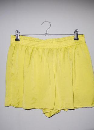 Лимонные шорты zara с кармашками завышенная посадка
