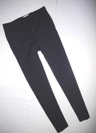 Строгие классические брюки . темно синие смесовая шерсть