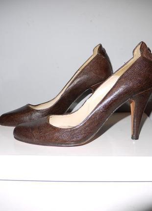 Massimo dutti  туфли лодочки . натуральная кожа . коричневые п...