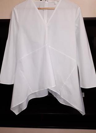 Шикарная белоснежная свободная блузка сos раз.l