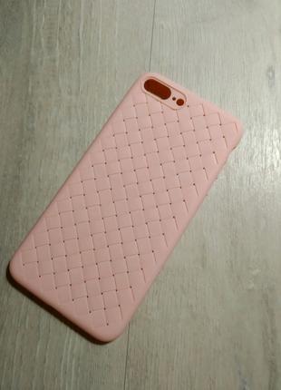 iPhone 7 Plus / 8 Plus чехол силиконовый розовый proda tiragor