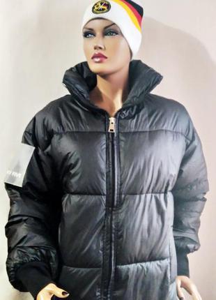 Пальто дутое черное