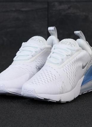 Женские кроссовки nike air max 270 white grey найк аир макс белые