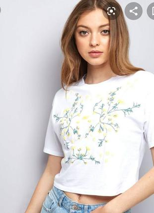 Кроп футболка new look 12 размер оверсайз