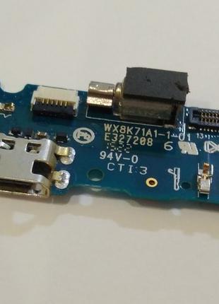 Нижняя плата зарядки Meizu M2 с микрофоном разъемом зарядки вибро