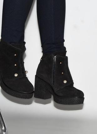 Зимние ботиночки из натуральной замши!
