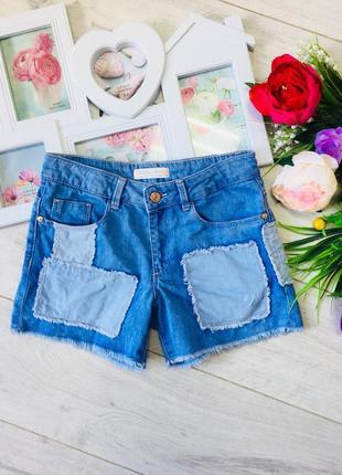 Zara короткие шорты с высокой талией