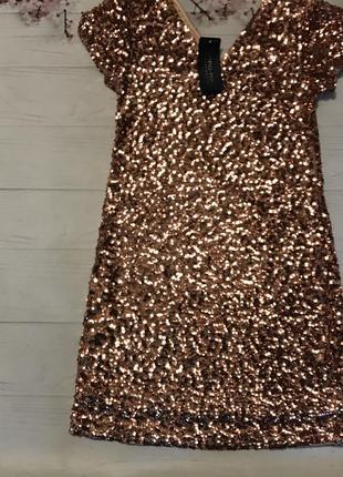 Платье прямое паетки пайетки блестящее новое от anna kaci