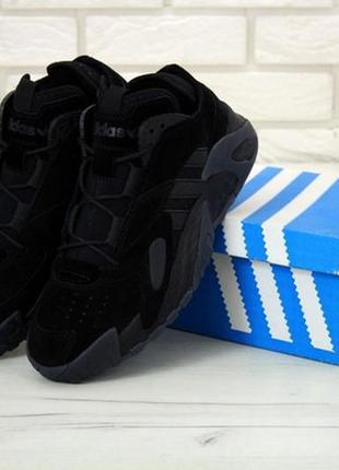 Мужские кроссовки найк nike streetball black, чёрные демисезонные