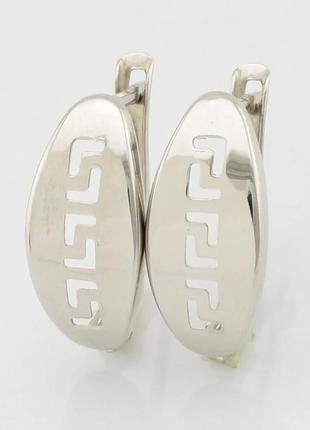 Серебряные серьги гречанка