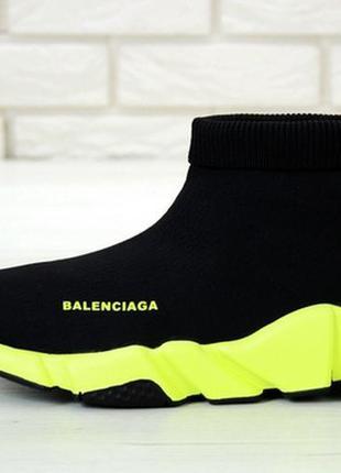 Мужские высокие кроссовки speed green black