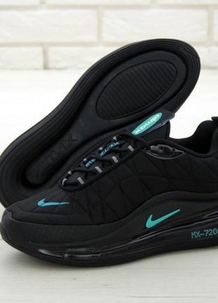 Nike air max 720-818 black мужские кроссовки найк
