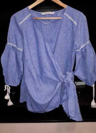 Роскошная блуза на запах zara раз.l