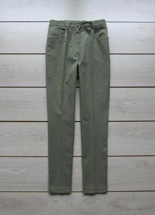 Оливковые брюки под джинс со стрелками высокая подсадка от cha...