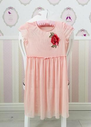 Платье тюль сетка с розами