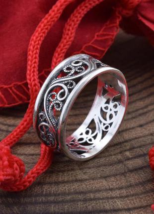 Серебряное кольцо альтеа  с чернением