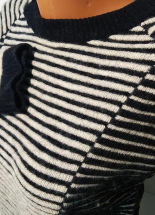 Кофта свитер свитшок джемпер овечья шерсть теплый