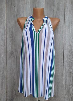 Banana republic блуза плиссированная модная размер м / л 38 10...