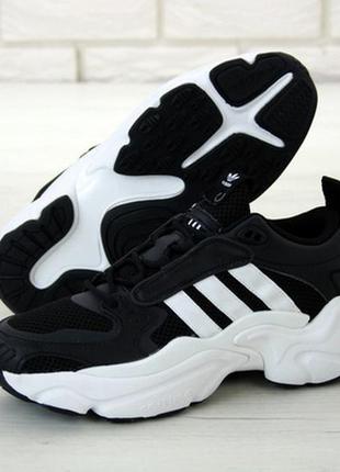Adidas consortium x nakeg magnum runner black white мужские кр...