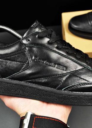 Кроссовки reebok club c 85 leather черные