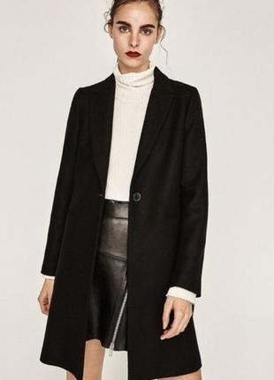 Базовое пальто прямого кроя от zara