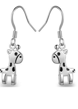 🏵стильные ювелирные серьги жирафы, новые! арт. 7005
