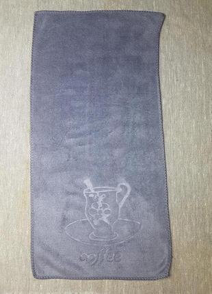 Полотенце для кухни из микрофибры серый