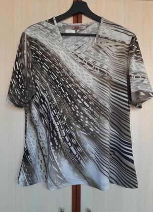 Оригинальная блуза с коротким рукавом вискоза италия