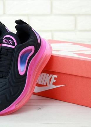 🌸nike air max 720 black/red/pink🌸женские кроссовки найк аир макс