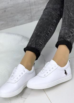 Стильные белые кеды,демисезонные белые кроссовки.