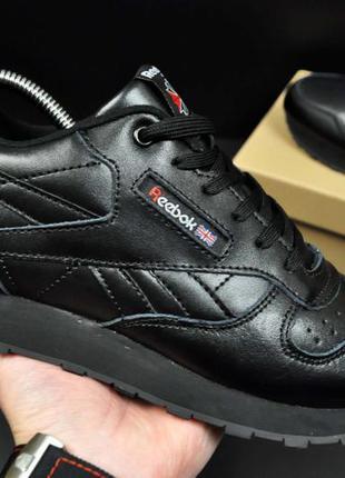 Кроссовки reebok classic мужские черные