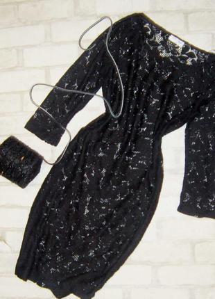 Шикарное ажурное платье