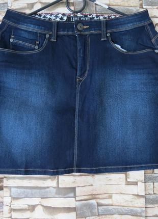 Юбка джинсовая  мини  размер 46-48 большой выбор модной одежды...