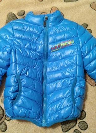 Тёплая куртка на 3-4 года