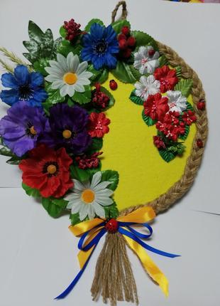 Цветочное панно в украинском стиле ручная работа