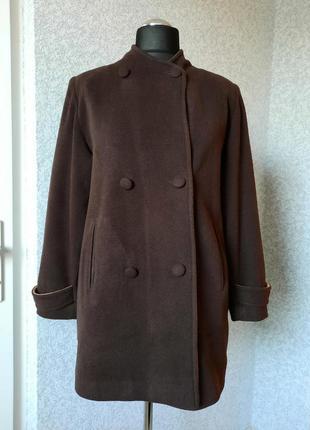 Женское демисезонное пальто, на подкладке, карманы, осень/весн...