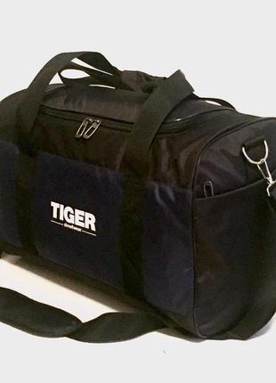 Спортивная дорожная сумка 28л черно-синяя