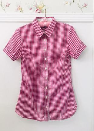 Хлопковая рубашка поло tommy hilfiger
