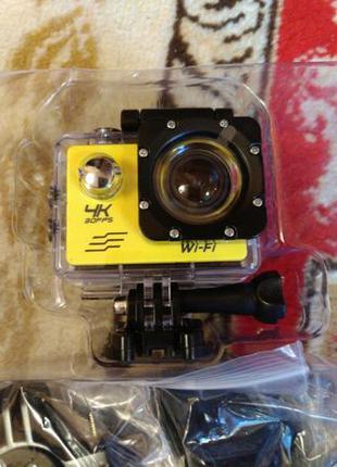 Экшн камера SJ8000+ с креплениями 1080р 4К WiFi